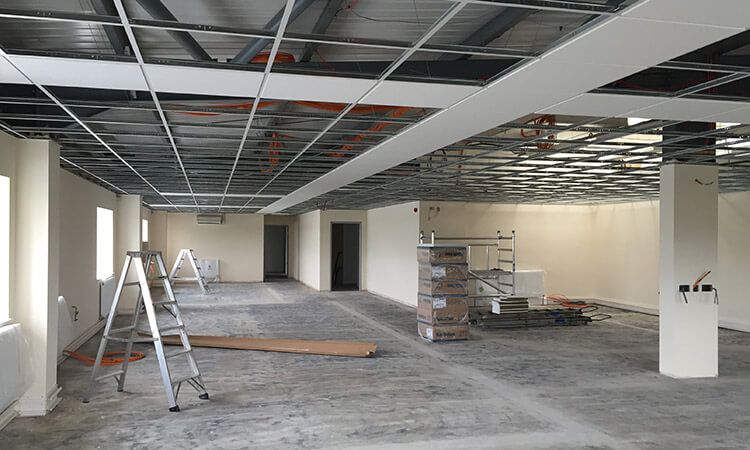 Suspended ceiling In progress